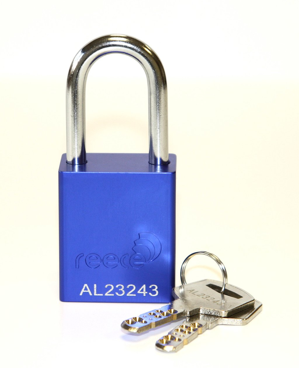 Aluminium bodied safety padlock with steel shackle