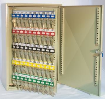 Padlock Cabinet holds 500 locks - Keyed lock