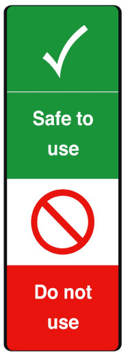 Safe to use safety tag