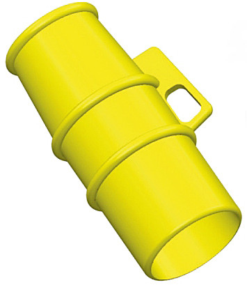 Lockout for use on 110v 16A pin and sleeve Sockets YELLOW