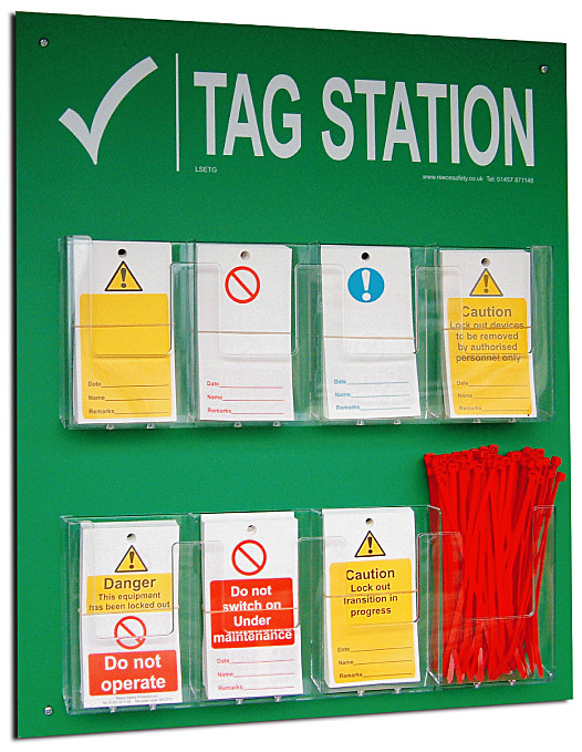 Tag Station with contents 600x500mm (includes Tags/ties/pen)