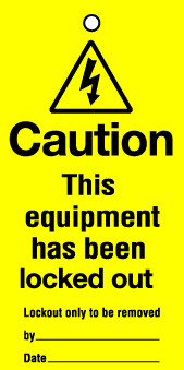 Lockout Tags 110x50mm Caution This equipment has been lock...Pck 10
