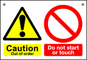 'Do Not Start or Touch' - Hanging Lockout Sign
