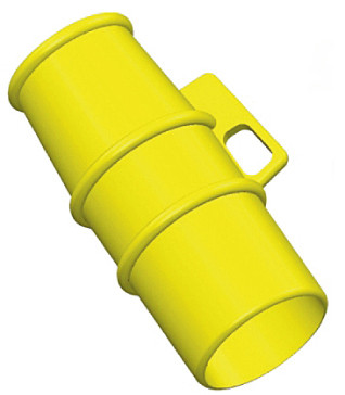 Lockout for use on 110v 32A pin and sleeve Sockets YELLOW