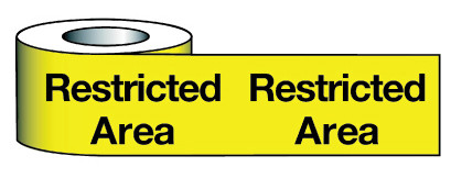 Barrier Warning Tape 150mmx100m Restricted Area