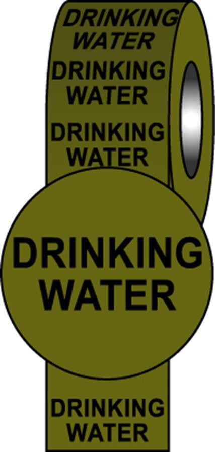 British Standard Pipeline Information Tapes - Drinking Water
