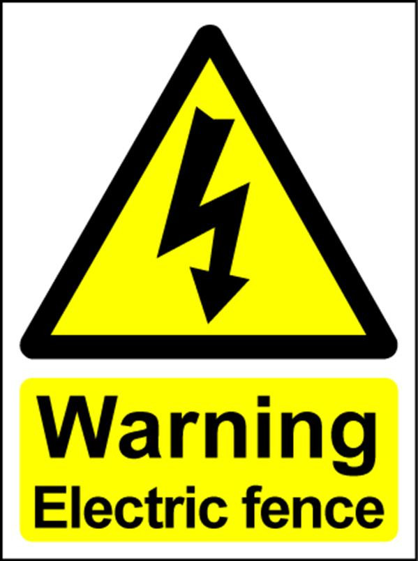 Electrical Hazard Warning Signs - Electric Fence