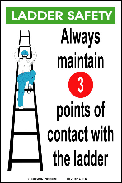 General awareness safety posters 39 ladder safety 39 for Ladder safety tips