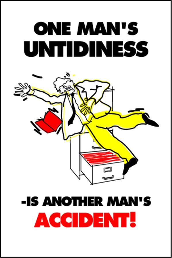Housekeeping Posters - 'One Man's Untidiness'