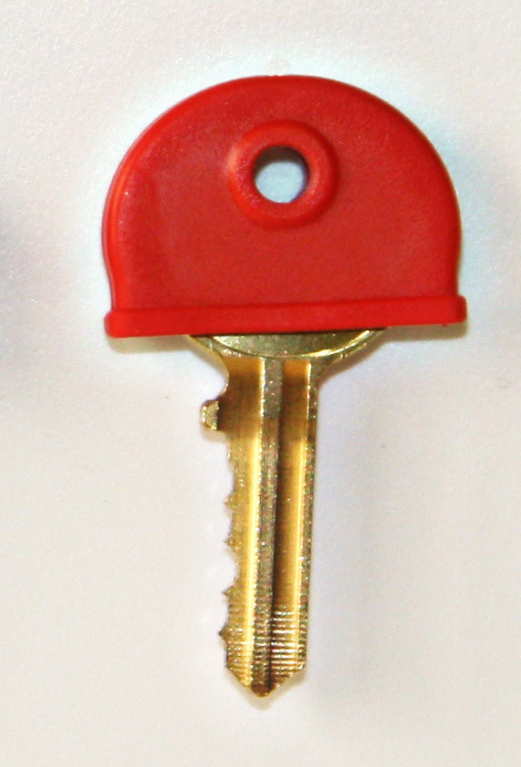 Plastic key cover red