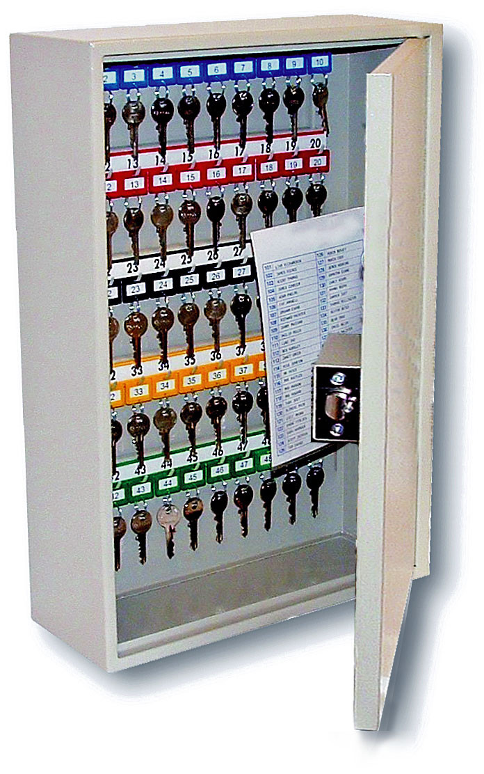 Deep Key Cabinet - 50 keys, size 350h x 380w x 140d mm