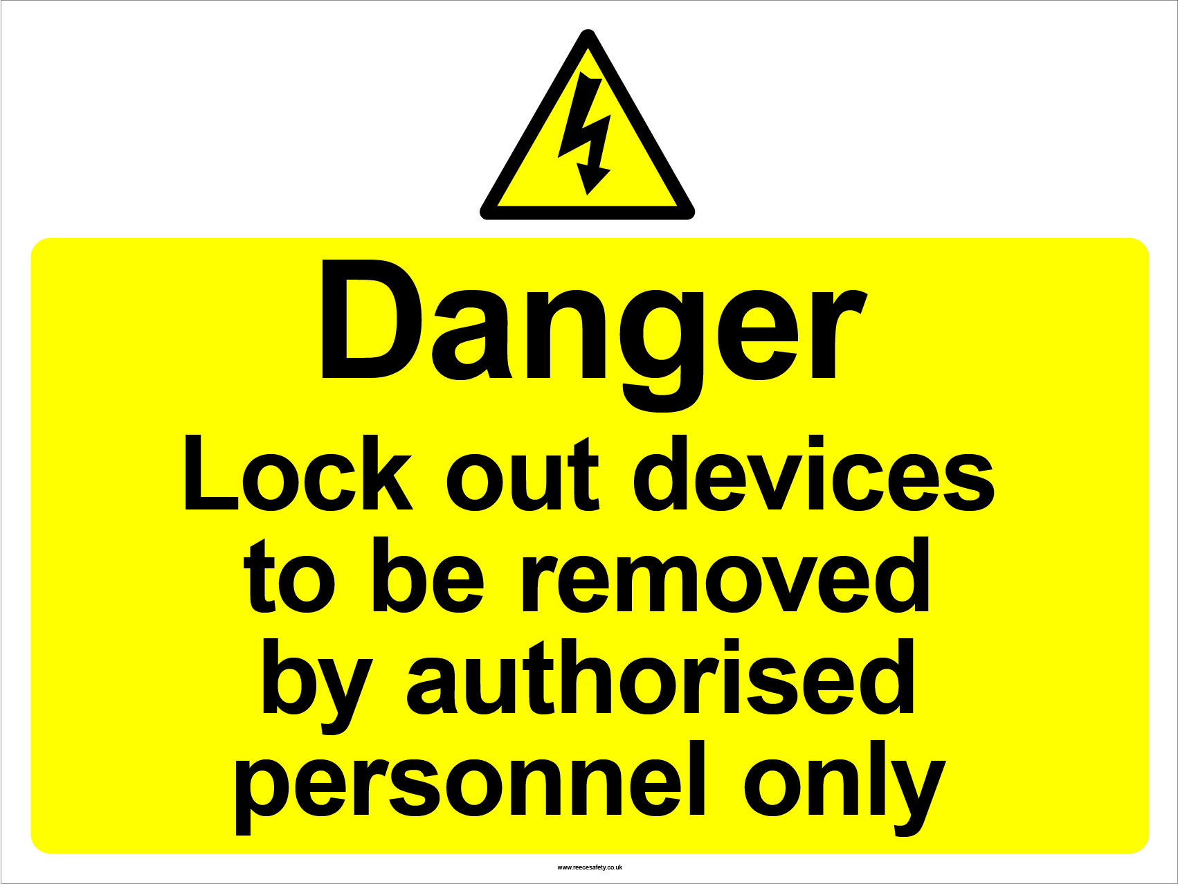S/A Lockout Wall Sign 450x600mm Danger Lockout devices to