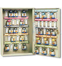 Padlock cabinet holds 100 locks - Keyed lock