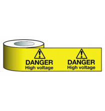 Barrier Warning Tape   75mmx100m Danger High Voltage