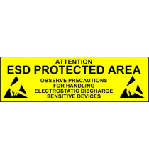 Electrostatic Labels - ESD Protected Area