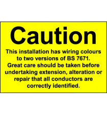 Poster 600x420mm Know your wiring colours (semi-rigid)