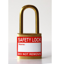 Red padlock label