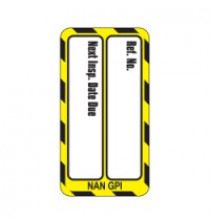 Nanotag Insert - Yellow - Next Inspection - Pack of 10