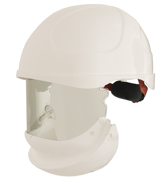 14cal arc rated visor integrated into helmet