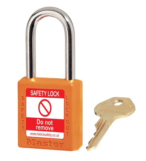 XENOY Padlock ORANGE, keyed differently