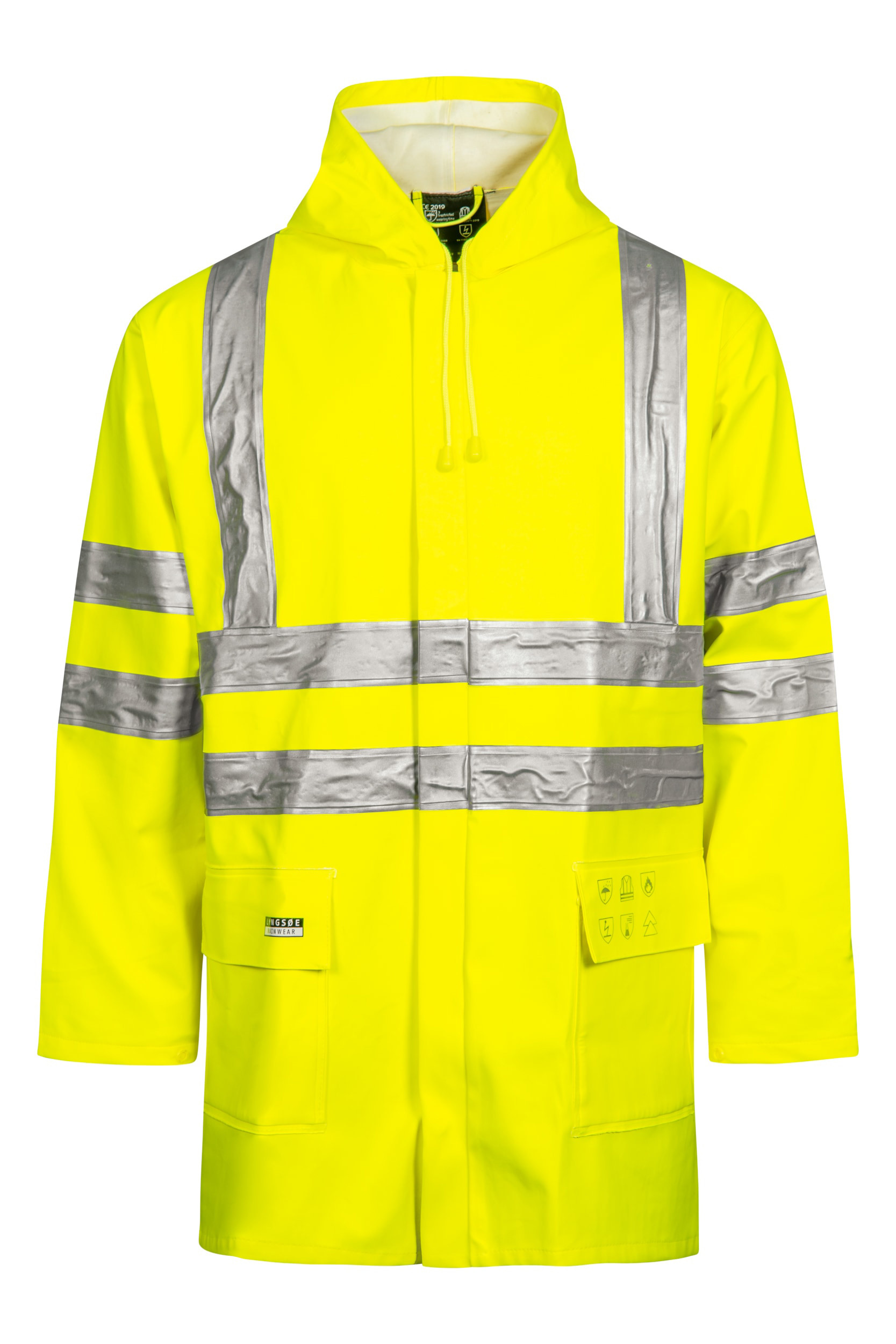 High Viz Arc Flash Yellow Waterproof Jacket 21.1cal/cm2