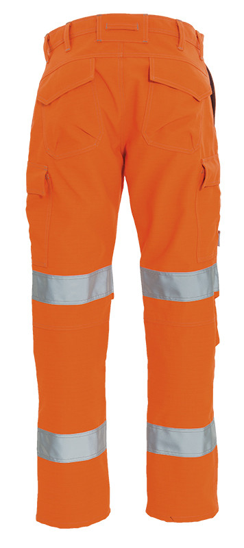 Orange Flame Retardant Trousers with Reflective Tape