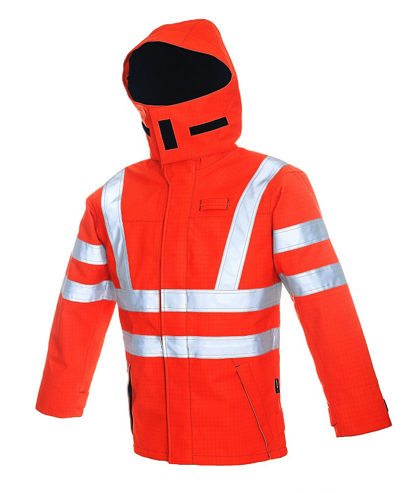 High Viz Arc Flash Waterproof  Jacket 47.0cal/cm2
