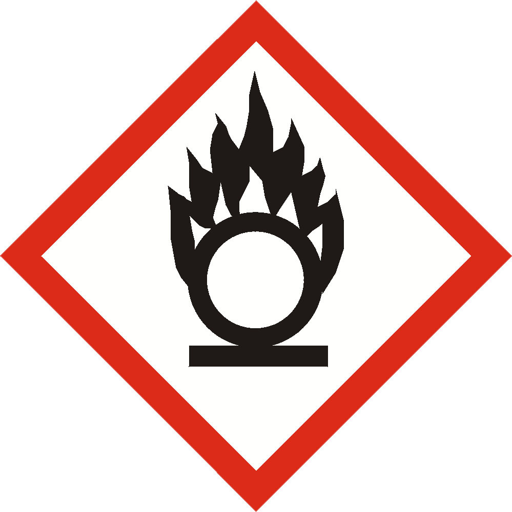 GHS OXIDISER  sign 100mm x 100mm