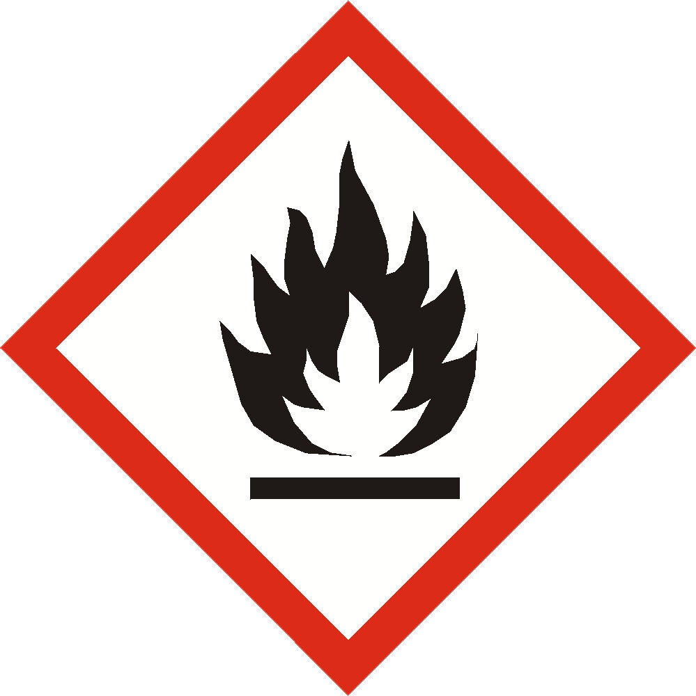 GHS FLAMMABLE sign 40mm x 40mm