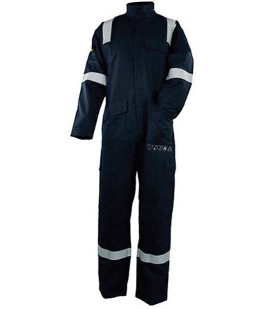 Arc Flash Coverall Navy with High vis Tape 15.0cal/cm2