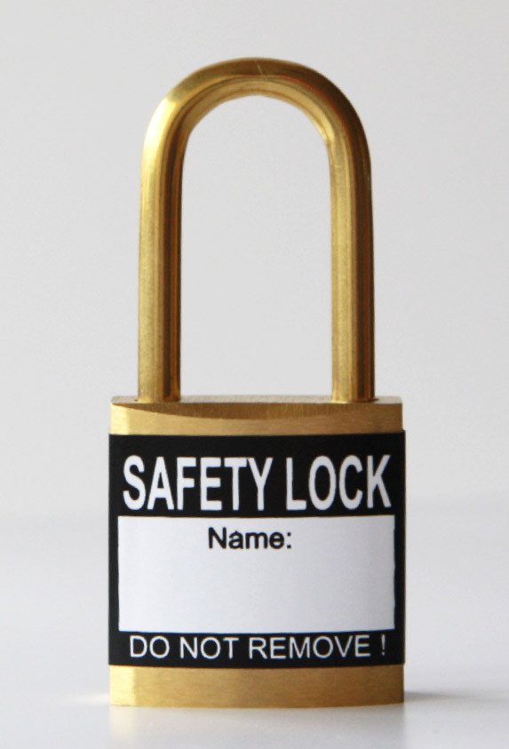 Black padlock labels