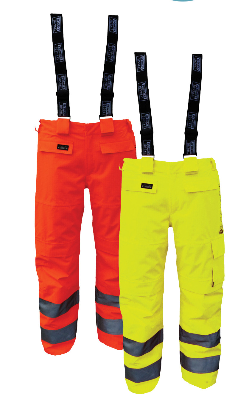 High Viz Arc Flash Yellow Waterproof Salopettes 42.2cal/cm2