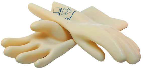 Insulating Gloves Size 10 360mmL x 0.5mm thick 500v Class 00