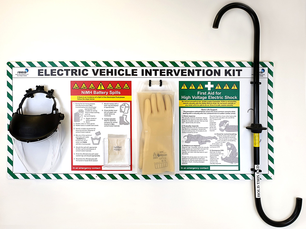 Electric vehicle electrical intervention kit station