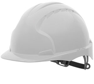 Industrial Safety Helmet - with slip rachet - White