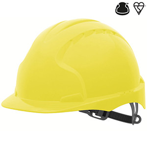 Industrial Safety Helmet - with slip rachet - Yellow