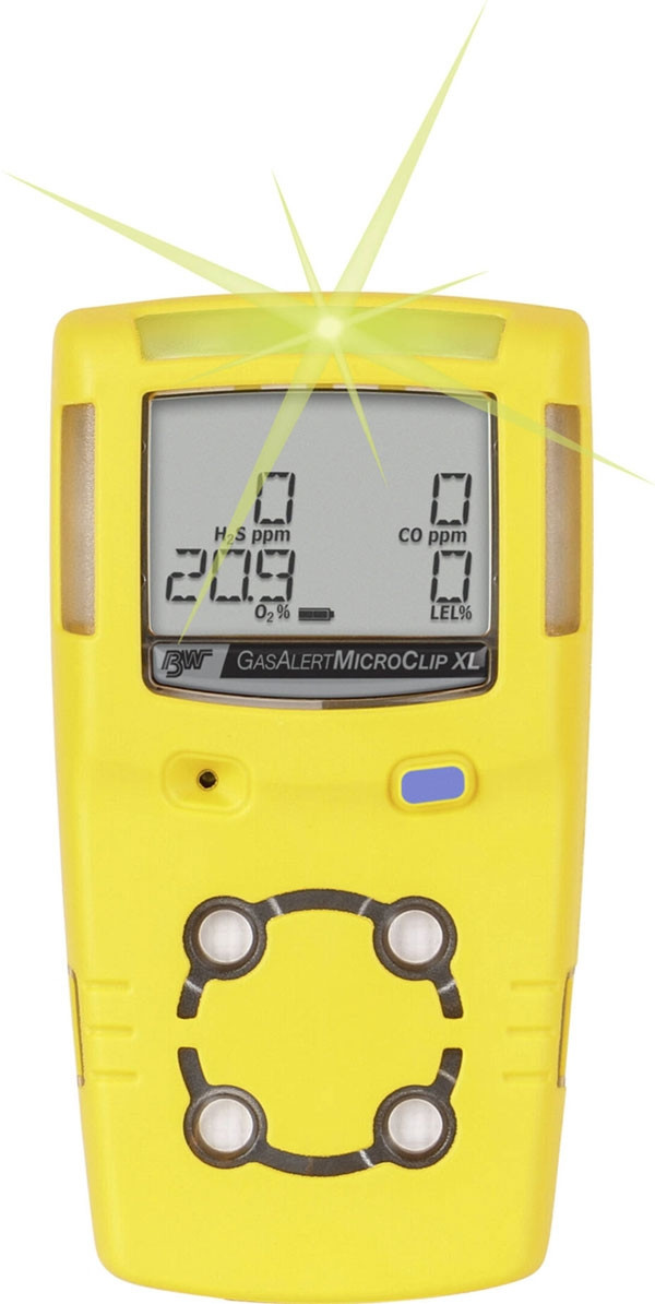 GasAlert Micro XL - 3 gas LEL%, O2, H2S - Yellow