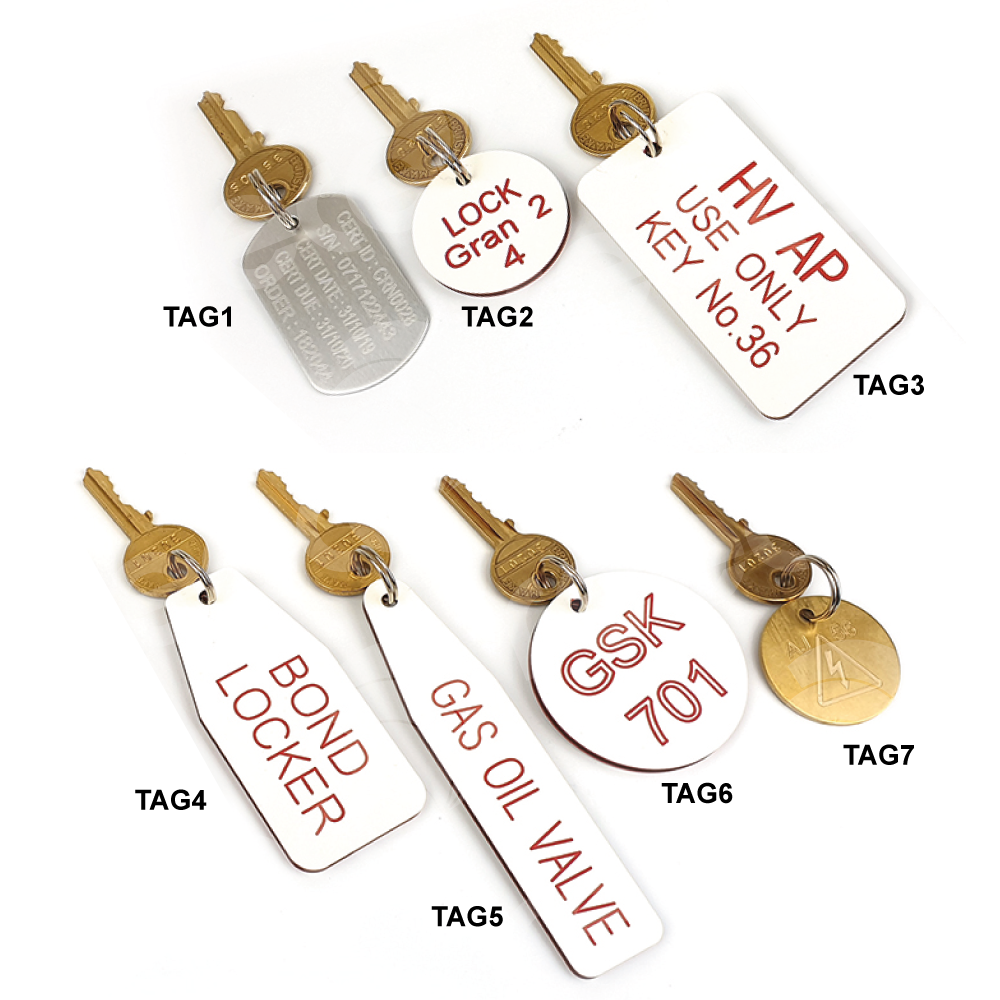 Key Tags with Engraving