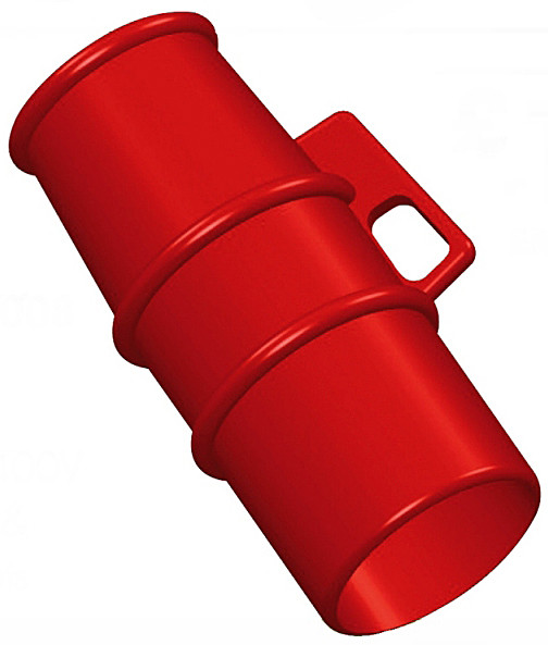 Lockout for use on 400v 16A pin and sleeve Sockets RED