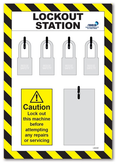 4 Lock Lockout Station For Existing Equipment