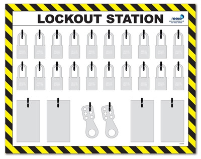 20 Lock Plastic Lockout Station Only