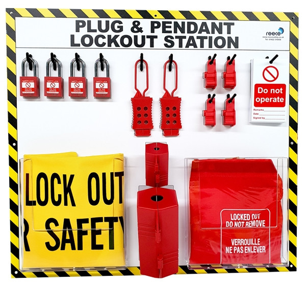Plug and Pendant Lockout Station with full contents