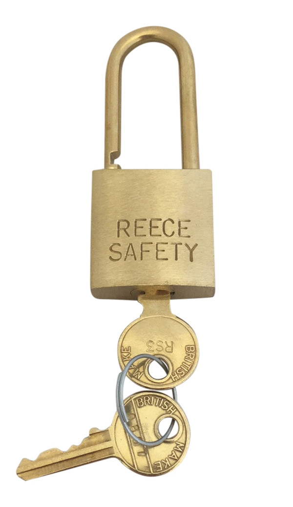 Brass 38mm body Safety Padlock -Master & Differ-Medium