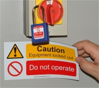 Magnetic Caution Sign
