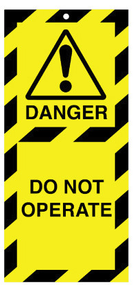 Lockout Safety Tags Pk10 110x50mm Danger Do Not Operate