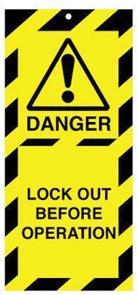 Lockout Safety Tags Pk 10 50x110mm Danger Lock Out Before Op