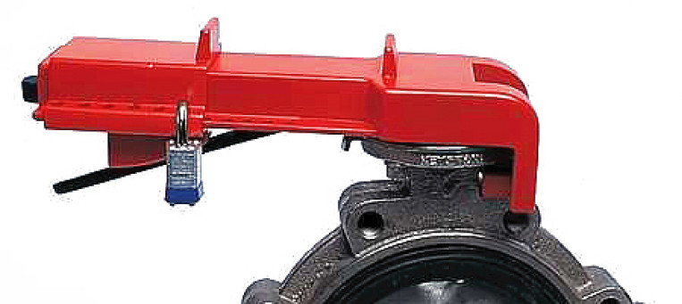B-Safe Butterfly valve lockout RED