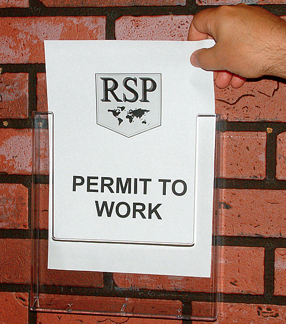 A4 Permit Document Holder