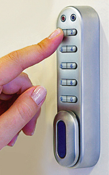 Mechanical Digital Lock fitted to cabinet