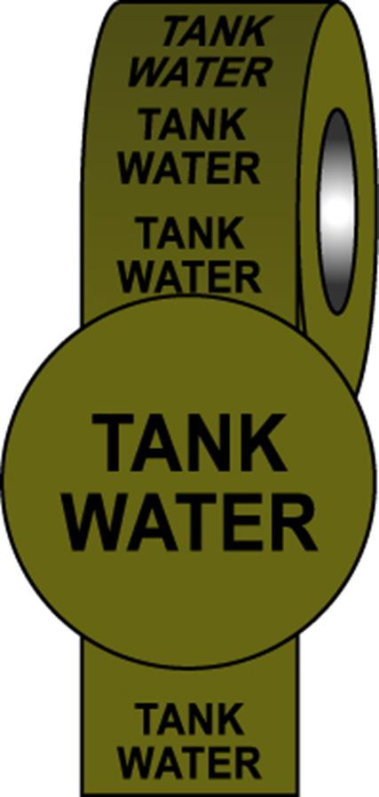 British Standard Pipeline Information Tapes - Tank Water